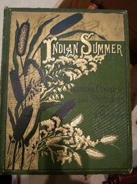 Antique book (Indian Summer Autumn Poems and Sketc Waynesboro