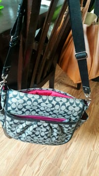 gray and black Coach monogram crossbody bag Manassas Park, 20111