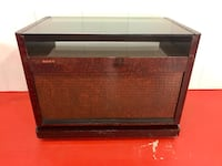 Vintage Sony TV Stand In Red Ash Veneer Entertainment Cabinet
