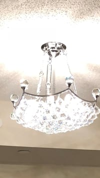 white and gray floral pendant lamp Toronto, M6A 1A1