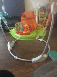 green, orange, and white Fisher-Price jumperoo St Thomas, N5R 6B6