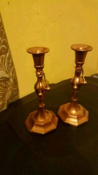 Rose Gold painted candle stick holdets