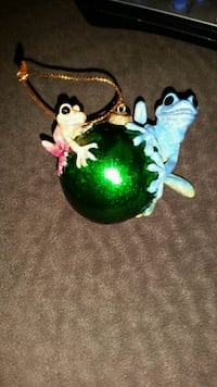 retired brand new Kitty's Critters frog Christmas ornament Nashua, 03064