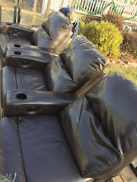 Leather three piece couch Reston