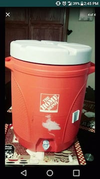 red The Home Depot water jug screenshot Chicago, 60639