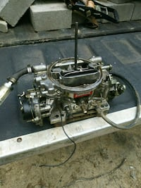 black and gray car engine