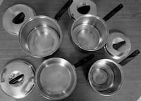 Vintage FLINT EKCO Stainless Steel Cookware (2, 3, & 4 Qrt Pots) SALE! Bethesda, MD, USA