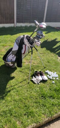 black and white golf bag with golf clubs West Midlands, B33 9JD