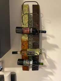 6 bottle wine rack for wall
