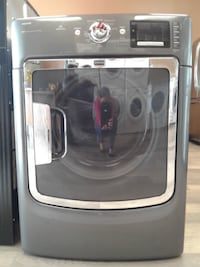 gray front-load clothes washer null