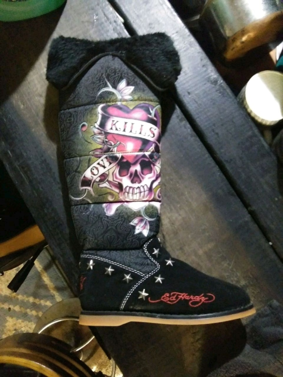 Photo Brand New Ed Hardy Boots