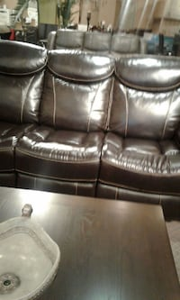 3pc real leather recliner set on sale Toronto, M9W 1P6