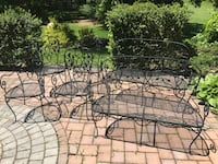Wrought iron 4 chairs 2 benches East Northport, 11731