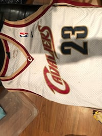 Lebron James Jersey NBA Authentic. Two small stains as seen in photos that can be washed out. XL Brampton, L6Y 1G7