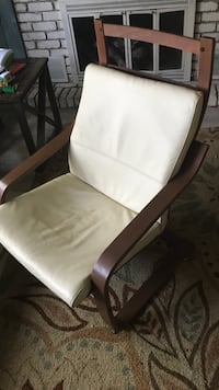 white and black wooden armchair Clearwater, 33756