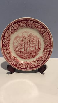 Currier and Ives Pink Royal China Transfer Ware - Salad Plate. Elkton, 21921