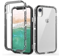 Brand New In Box iPhone XR Case,Shockproof Three Layer Protection Hard Plastic & Soft TPU Sturdy Shockproof Armor High Impact Resistant Cover Case for iPhone XR 2018(6.1 inch),Clear Hayward, 94542