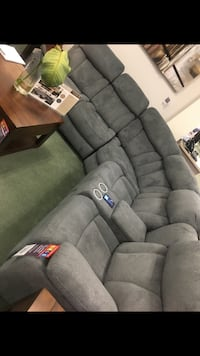 Connell power reclining sectional with heat and massage.