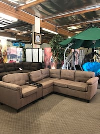 Brand New Sectional with cup holder $599, Finance Available Sacramento, 95834