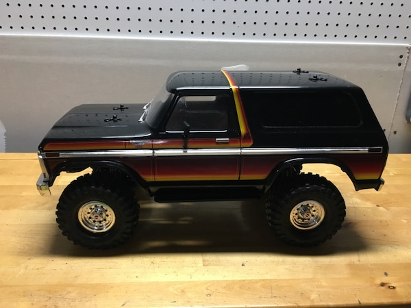 TRAXXAS TRX-4 FORD BRONCO 4WD TRUCK SUNSET GRAPHICS