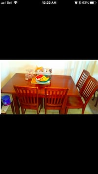 Red wooden dining table set Edmonton, T6C 2B8