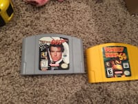 two Nintendo 64 game cartridges