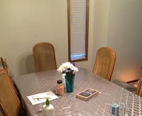 MOVING SALE...Dining table with six chairs