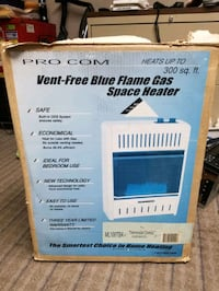 New ProCom Blue Flame Ventless Gas Heater