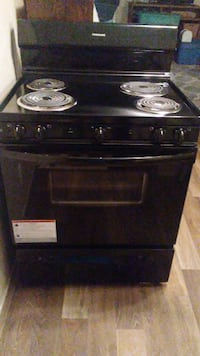black 4-burner coil range WILMINGTON