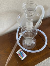 Brand New Never Been Used Packaged Beautiful Glass Hookah Shisha