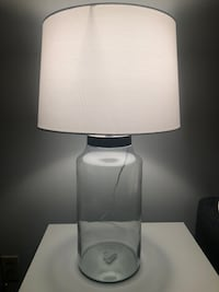 Glass Lamp (2 available, $60 each)