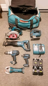 6 piece makita tool set with charger and 4 batteries Barrie
