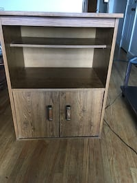 brown wooden cabinet with shelf Calgary, T2A 0C5