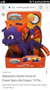 "Skylanders SPYRO 11""Talking Dragon Activision 2012"