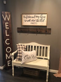 Custom made by rustic finish welcome sign  Carroll, 43112