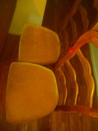two brown wooden framed padded chairs Fresno, 93705