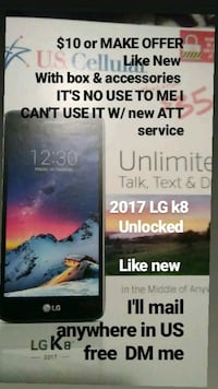 LG k8 used phone comes with everything Maryland