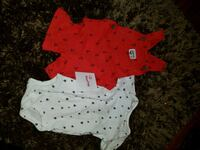 baby's white and red polka dot onesie Winnipeg, R2N 2J9
