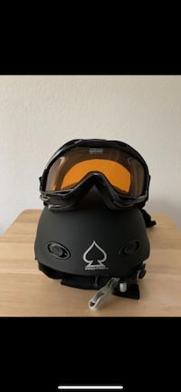 Snow Sport Youth Helmet, Mittens & Goggles