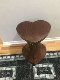heart shaped brown wooden table