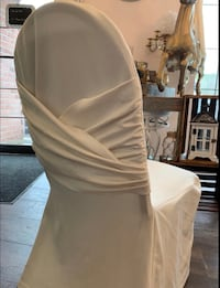 Ivory chair covers PLEASE READ DESCRIPTION Milton, L9T 6S4