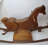 Vintage Wooden Rocking Horse Bartley Collection Kit 1976 Strasburg