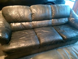 2 Leather Sofas. PRICED TO SELL QUICKLY