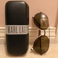 Karl Lagerfeld Aviator Sunglasses with Case