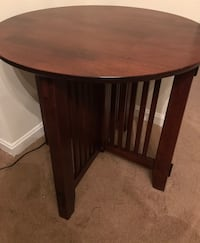 Pair teak wood end tables $55 ea or both for  only  $100. Great condition. OBO. Hagerstown, 21740