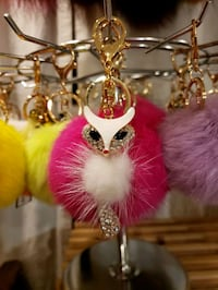 Fox Keychain (Rhinestones/Goldtone Metal/Fur) Woodbridge, 22193