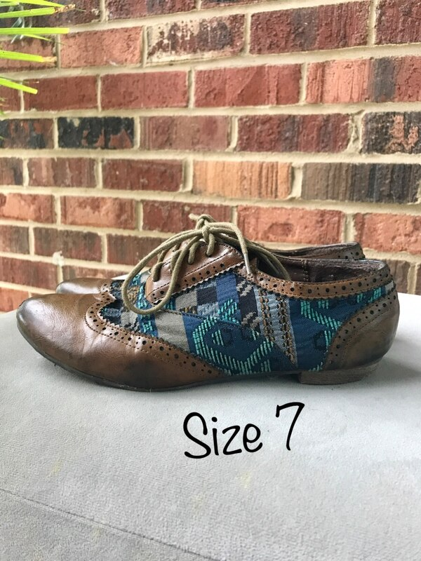 Brown/Gray/Blue Lace up shoes