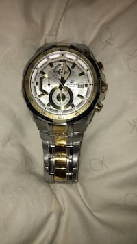 Silver and gold watchEdifice Casio 3 - Hand Chronograph Pompano Beach, 33064