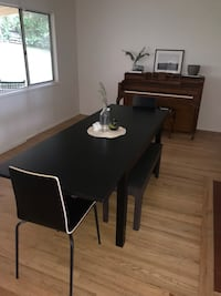 Black Dining Table w/ 2 Chairs (if wanted)  Spring Valley, 91977