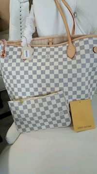 Damier Azur Louis Vuitton leather tote bag Mississauga, L5T 2L8